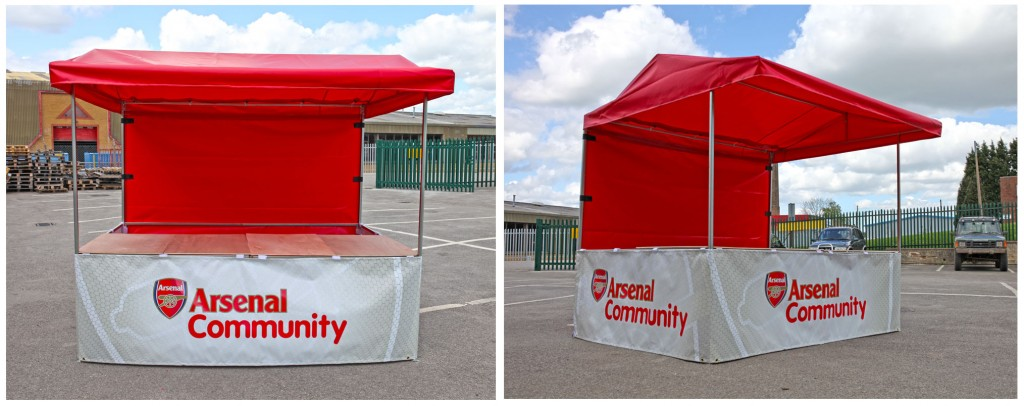 Arsenal Football Club Printed Market Stall